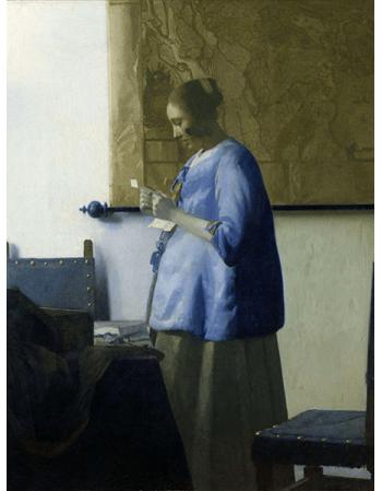 Reprodukcje obrazów Jan Vermeer Kobieta w błękitnej sukni