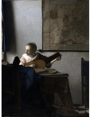 Reprodukcje obrazów Jan Vermeer Kobieta z lutnią