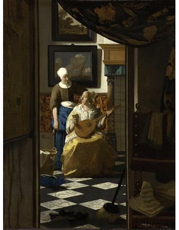 Reprodukcje obrazów Jan Vermeer List miłosny