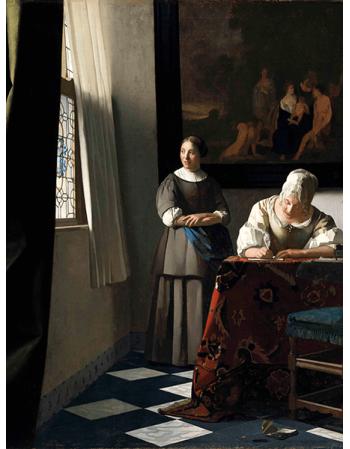 Reprodukcje obrazów Jan Vermeer Pisząca list