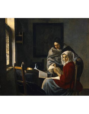 Reprodukcje obrazów Jan Vermeer Przerwana lekcja muzyki