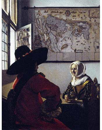 Reprodukcje obrazów Jan Vermeer Żołnierz i śmiejąca się dziewczyna