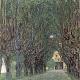 Reprodukcja obrazu Gustav Klimt Avenue in schloss kammer park