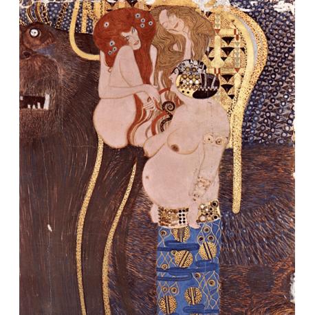 Reprodukcja obrazu Gustav Klimt Beethoven Frieze