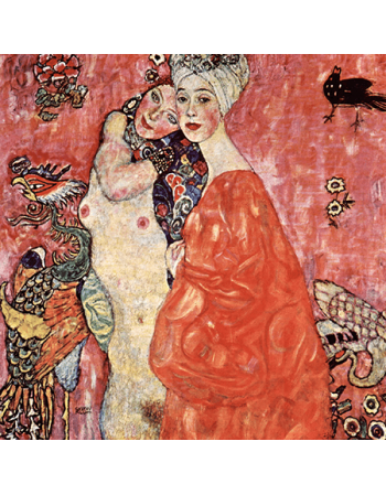 Reprodukcja obrazu Gustav Klimt Girlfriends or Two Women Friends