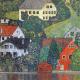 Reprodukcja obrazu Gustav Klimt Houses in unterach am attersee