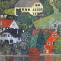 Reprodukcje obrazów Houses in unterach am attersee - Gustav Klimt