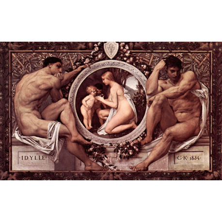 Reprodukcja obrazu Gustav Klimt Idylla