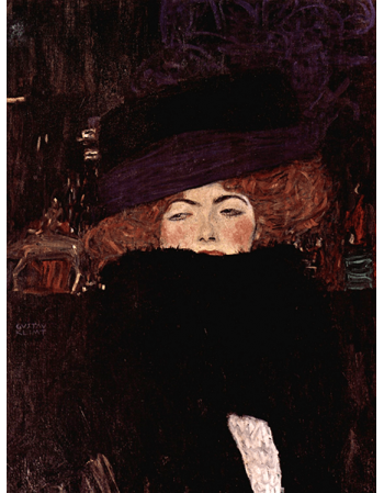 Reprodukcje obrazów Lady with hat and feather boa - Gustav Klimt