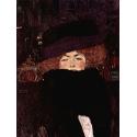 Reprodukcje obrazów Lady with hat and feather boa - Gustav Klimt