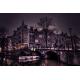 Obraz na płótnie-Fedkolor-Amsterdam nocą