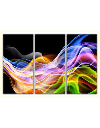 Obraz-na-płótnie-tryptyk-Kolorowy dym