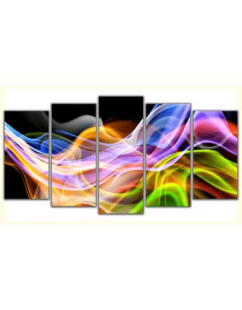 Obraz-na-płótnie-poliptyk-Kolorowy dym