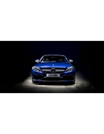 Obraz na płótnie Niebieski Mercedes