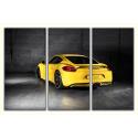 Żółte Porsche