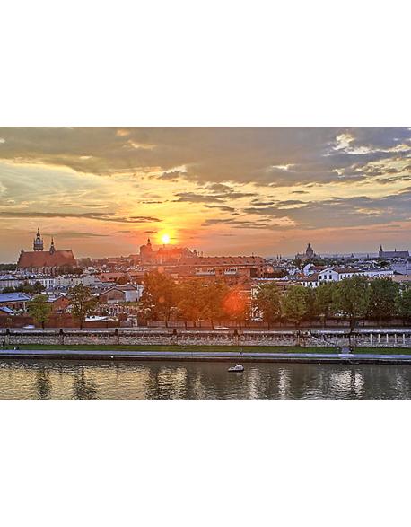 Obraz na płótnie Zachód słońca - Kraków