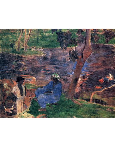 Reprodukcje obrazów Paul Gauguin Along the river