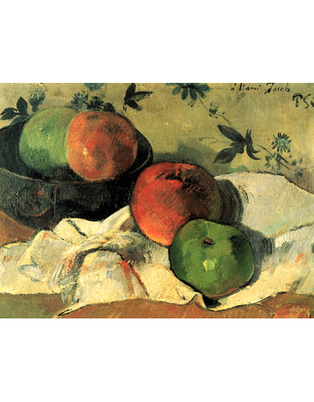 Reprodukcje obrazów Paul Gauguin Apples and bowl, or Still Life with friend Jacob