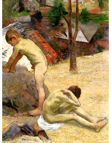 Reprodukcje obrazów Paul Gauguin Breton boys bathing II