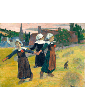 Reprodukcje obrazów Paul Gauguin Breton Girls Dancing, Pont-Aven