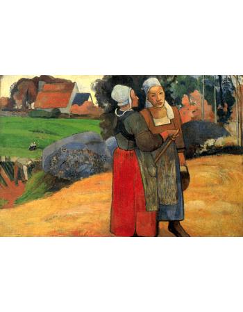 Reprodukcje obrazów Paul Gauguin Breton peasant