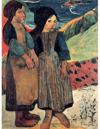 Reprodukcje obrazów Paul Gauguin Brittany close to the sea
