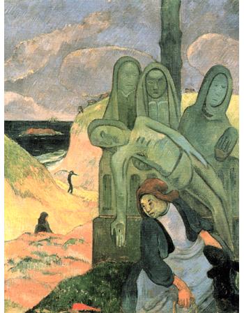 Reprodukcje obrazów Paul Gauguin Christ green or Breton Calvary