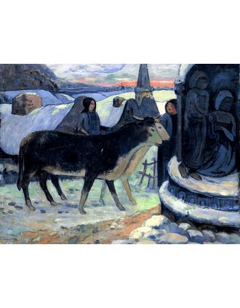 Reprodukcje obrazów Paul Gauguin Christmas Night