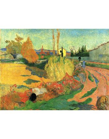 Reprodukcje obrazów Paul Gauguin Farmhouse from Arles