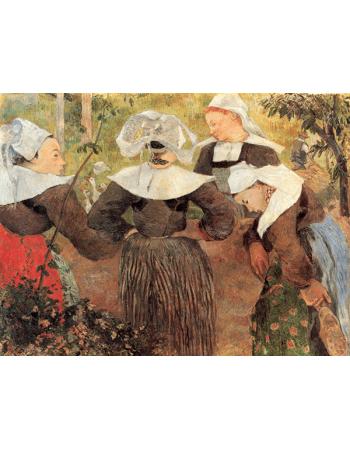 Reprodukcje obrazów Paul Gauguin Four Breton Women