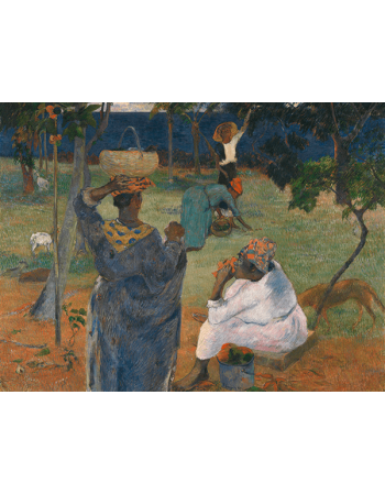 Reprodukcje obrazów Paul Gauguin Fruit Picking, or Among the Mangoes
