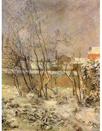 Reprodukcje obrazów Paul Gauguin Garden in Snow