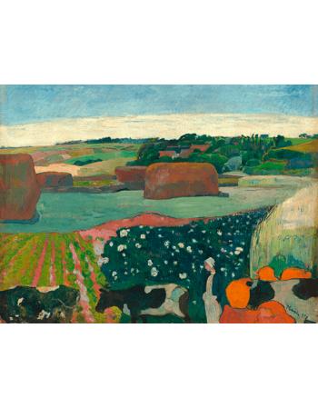 Reprodukcje obrazów Paul Gauguin Haystacks in Brittany