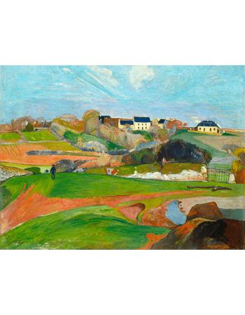 Reprodukcje obrazów Paul Gauguin Landscape at Le Pouldu
