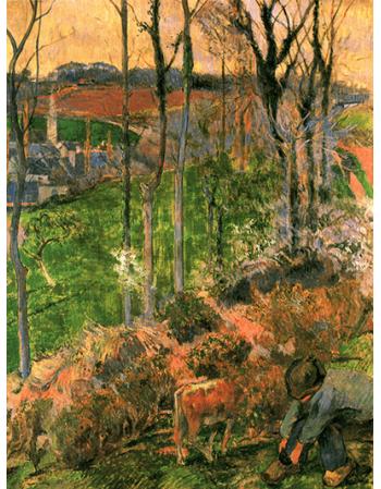 Reprodukcje obrazów Paul Gauguin Landscape from Pont-Aven, Brittany