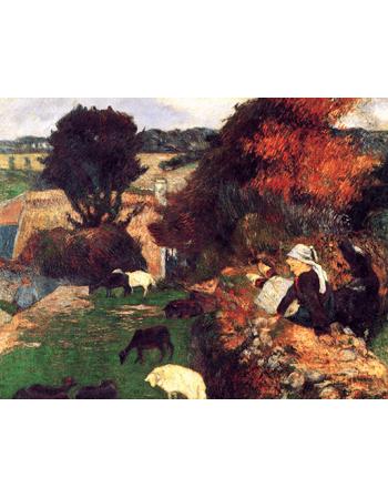 Reprodukcje obrazów Paul Gauguin The Breton shepherdess