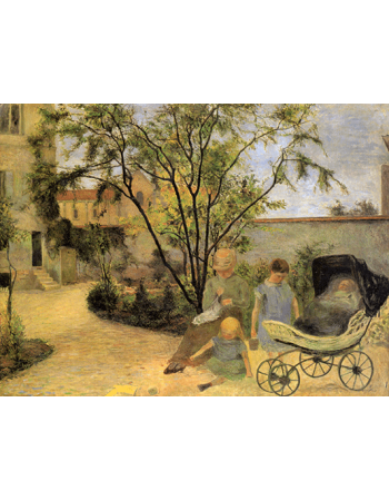 Reprodukcje obrazów Paul Gauguin The family of the painter in the garden