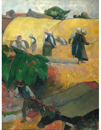 Reprodukcje obrazów Paul Gauguin The Haystacks