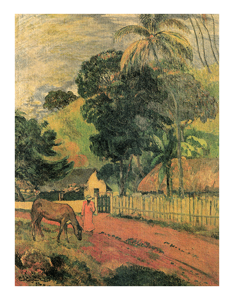 Reprodukcje obrazów Paul Gauguin The horse on the way