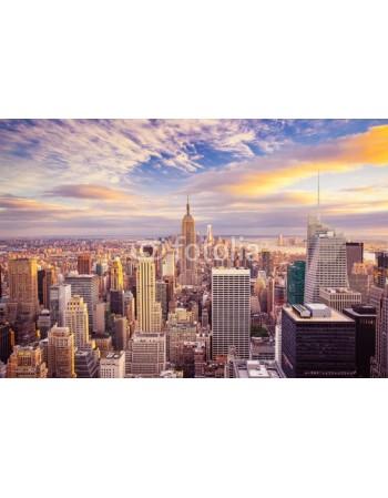 New York z zachodem słońca