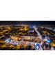 Obraz-na-płótnie-fotoobraz-Gdańsk-Stare Miasto nocą