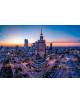 Obraz-na-plotnie-fotoobraz-fedkolor-Warszawa-Pałac-Kultury-o-zachodzie