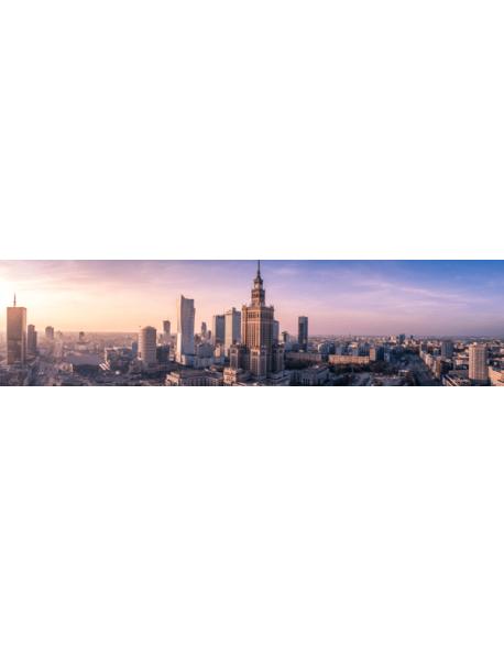 Obraz na płótnie fotoobraz fedkolor Warszawa Panorama z Pałacem Kultury