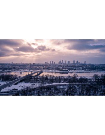 Warszawa - Zimowa panorama