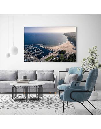 Obraz na płótnie fotoobraz Gdańsk Plaża w Gdyni