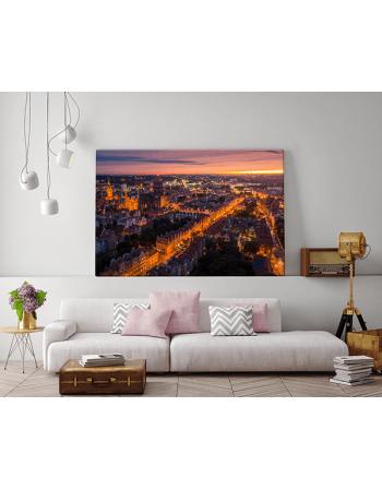 fotoobraz Obraz na płótnie Gdańsk Stare Miasto o zachodzie