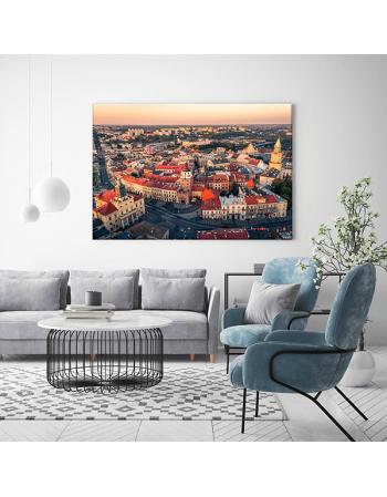 Obraz na płótnie fotoobraz fedkolor Lublin Widok na Stare Miasto