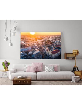 Obraz na płótnie fotoobraz fedkolor Lublin Widok na deptak