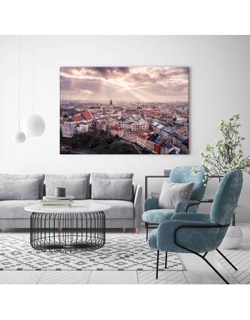 Obraz na płótnie fotoobraz fedkolor Lublin Widok na Plac po Farze