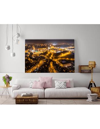 Obraz na płótnie fotoobraz fedkolor Lublin Stare Miasto nocą